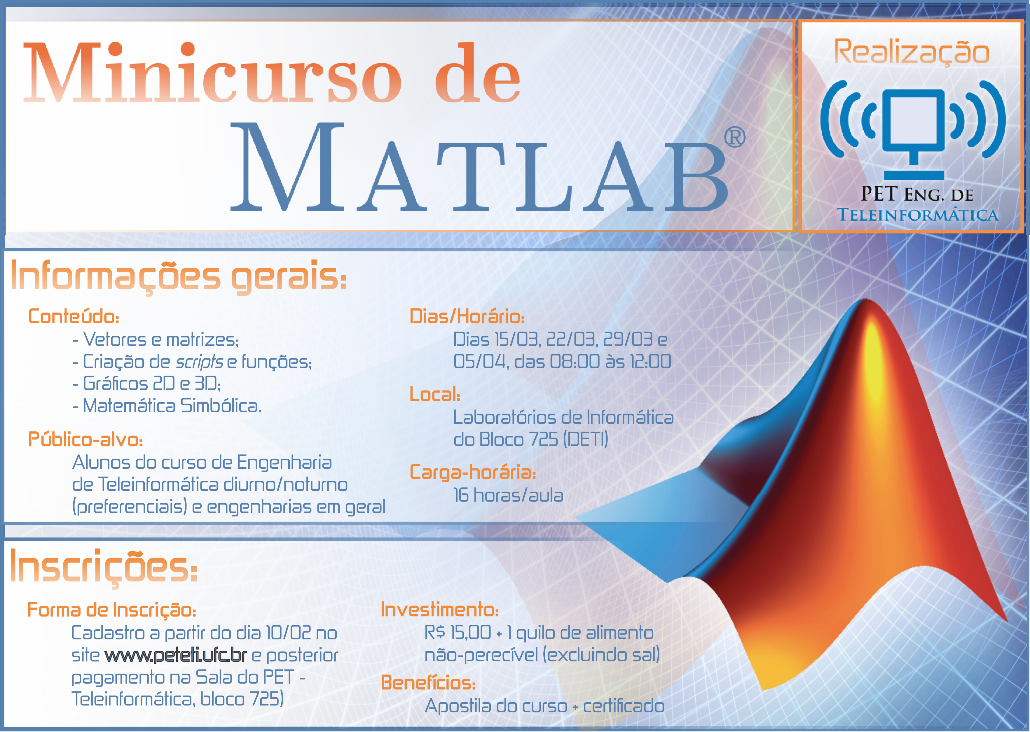 Cartaz Curso Matlab 2014